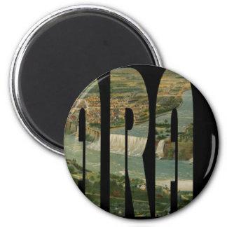 niagarafalls1891 runder magnet 5,7 cm