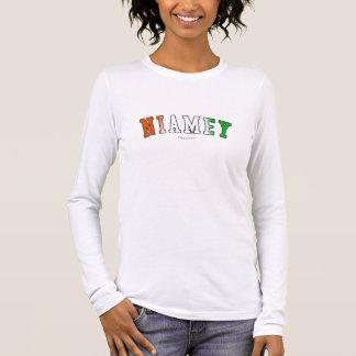 Niamey in den Niger-Staatsflaggefarben Langarm T-Shirt