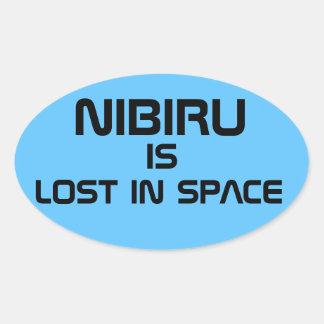 Nibiru ist im Raum verloren Ovaler Aufkleber