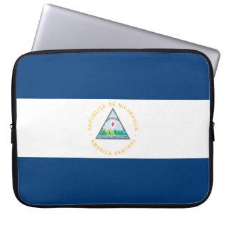 Nicaragua-Flagge Laptop Sleeve