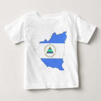 Nicaragua-Flaggen-Karte Baby T-shirt