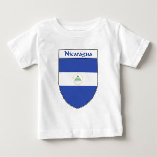 Nicaragua-Flaggen-Schild Baby T-shirt