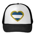 nicaragua-heart. baseballmütze