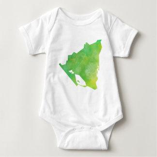 Nicaragua-Karte Baby Strampler