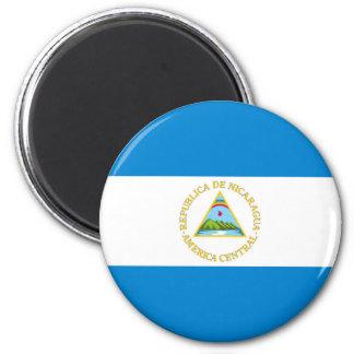 Nicaragua-Landesflaggenationssymbol Runder Magnet 5,1 Cm