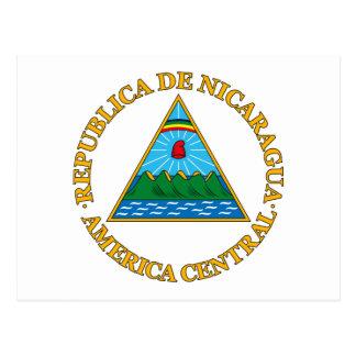 Nicaragua-Wappen Postkarte