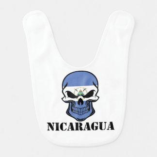 Nicaraguaflaggen-Schädel Nicaragua Lätzchen