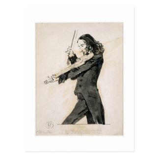 Niccolo Paganini (1782-1840) die Violine, 1 Postkarte