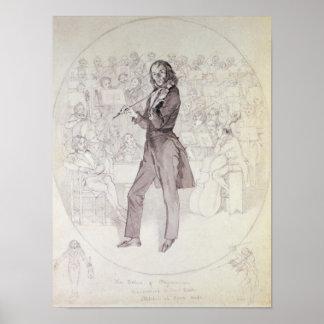 Niccolo Paganini, Violinist Plakatdrucke