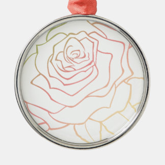 Nice Rose Flower in Pink Ombre, Rose Flower, giftt Silbernes Ornament