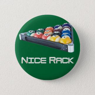 NiceRack Weiß Runder Button 5,7 Cm