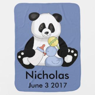 Nicholas personalisierter Panda Babydecke