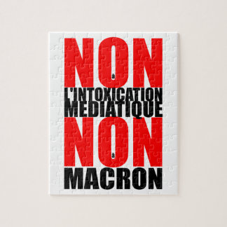 Nicht à l'INTOXICATION MEDIATIQUE NICHT à MACRON P Puzzle