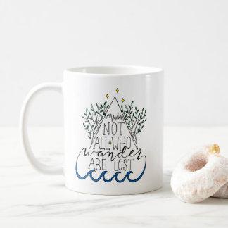 Nicht alle, die Wander verloren sind Kaffeetasse