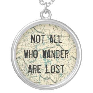 Nicht alle, die Wander verloren sind Versilberte Kette