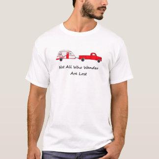 Nicht alle, die Wander verlorener T-Shirt