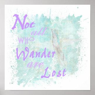 Nicht alle, die wandern…. Plakat