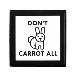 Nicht alle tun Karotte Schmuckschachtel