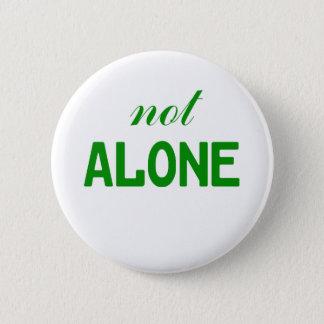 Nicht allein runder button 5,7 cm