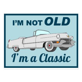 Nicht alt aber Klassiker - Weiß Postkarte
