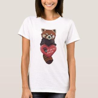Nicht auf meiner Uhr - roter Panda mit Herzen T-Shirt