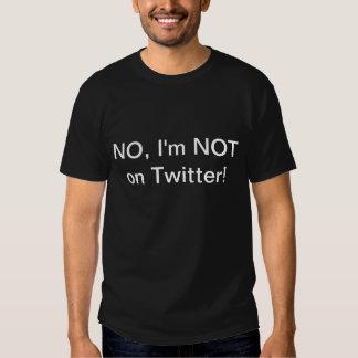Nicht auf Twitter T-Shirts