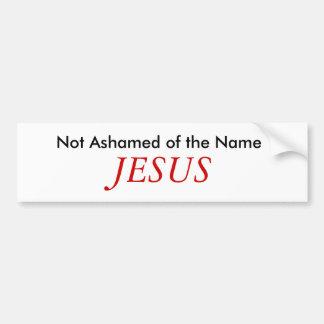 Nicht beschämt über den Namen, JESUS Autoaufkleber