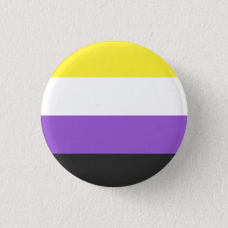 Nicht-binärer Flaggenknopf Runder Button 3,2 Cm