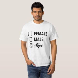 Nicht-Binärer Geschlechts-Checklisten-Schwarz-Text T-Shirt