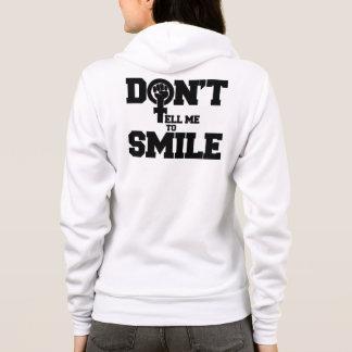 Nicht bitten Sie mich zu lächeln Hoodie