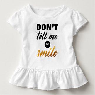 Nicht bitten Sie mich zu lächeln Kleinkind T-shirt