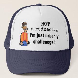 Nicht ein Redneck, gerade urbanly angefochtener Truckerkappe