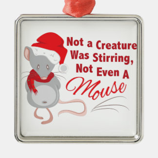 Nicht einmal Maus Quadratisches Silberfarbenes Ornament