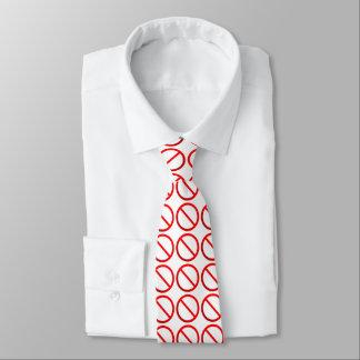 Nicht erlaubte Zeichen-Hals-Krawatte Krawatte