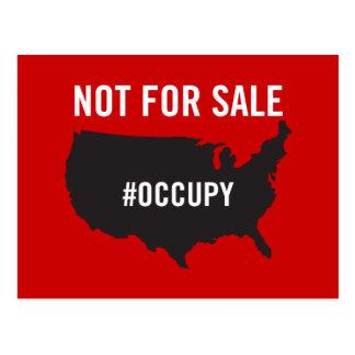 Nicht für Verkauf - Occupy Wall Street - wir sind Postkarte