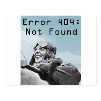 Nicht gefunden postkarte