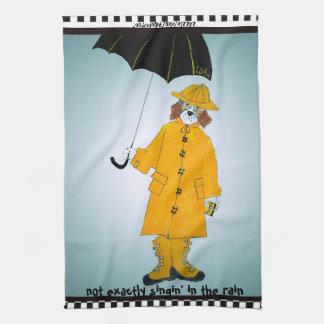 """""""Nicht genau Singin im Regen"""" Beagle Handtuch"""