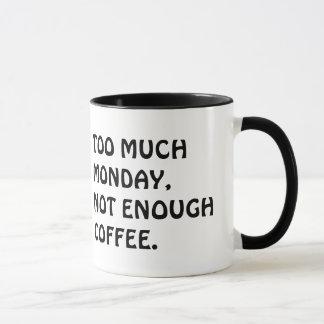Nicht genügend Kaffee-Tasse Tasse