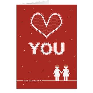 """Nicht gerade Entwurf """"Liebe, die Sie"""" kardieren Karte"""