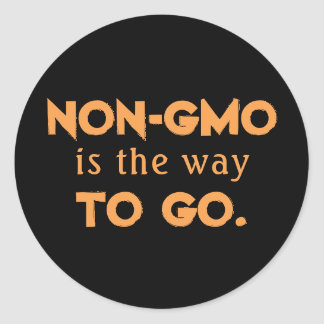 Nicht-GMO Runder Aufkleber