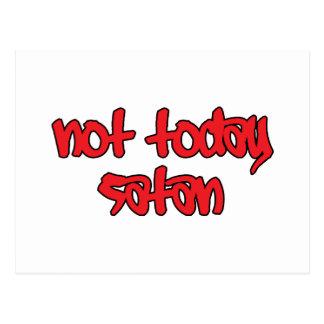 Nicht heute Satan Postkarte
