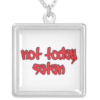 Nicht heute Satan Versilberte Kette