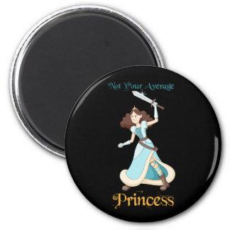 """""""Nicht Ihr Mädchen durchschnittlicher Prinzessin-"""" Runder Magnet 5,1 Cm"""