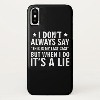 Nicht immer sagen Sie letzte Form wenn i-Fischen iPhone X Hülle