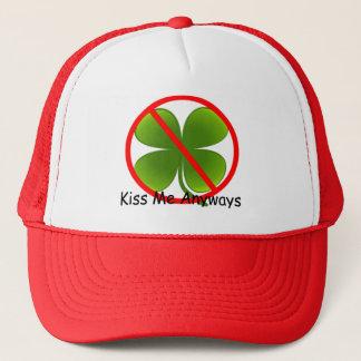 Nicht irisch, küssen Sie mich irgendwie Truckerkappe