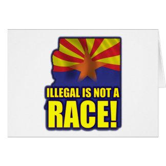 Nicht ist ein Rennen illegal Karte