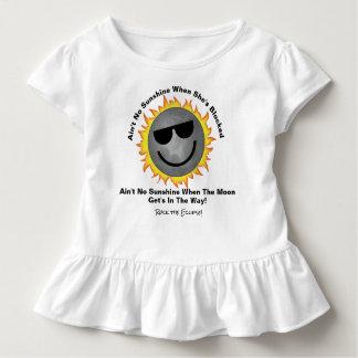 Nicht ist kein Sonnenschein-Rüsche-T-Stück Kleinkind T-shirt