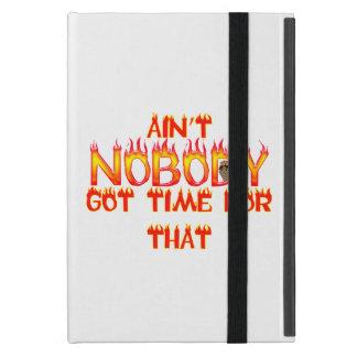 Nicht ist niemand erhaltener Zeit-Bonbon Brown Hülle Fürs iPad Mini