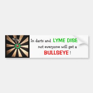 Nicht jeder erhält ein Bullauge! (Lyme-Borreliose) Autoaufkleber