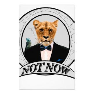 Nicht jetzt - Löwe Briefpapier